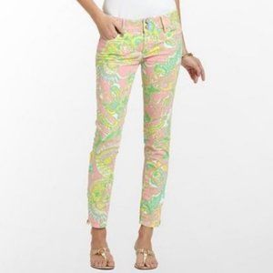 Lilly Pulitzer Worth Skinny Mini Zip Jeans